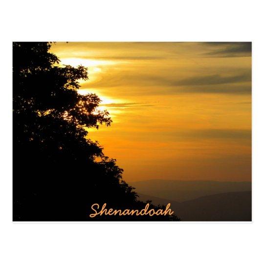 Sunset at Shenandoah Postcard