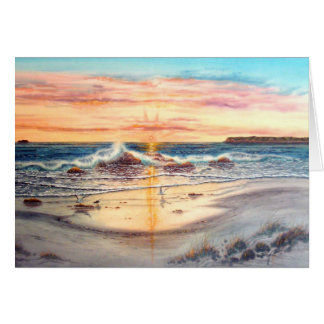 SUNSET AT SILVERSTRAND, CORONADO, CALIFORNIA CARD