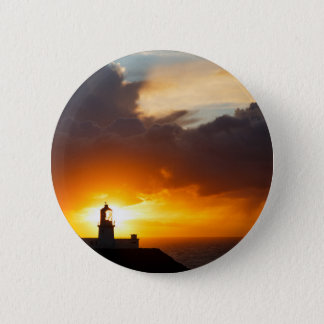Sunset at Strumble Head Lighthouse 2 Inch Round Button