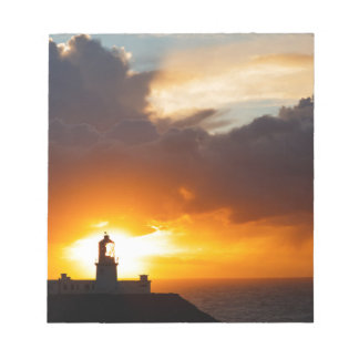 Sunset at Strumble Head Lighthouse Notepad