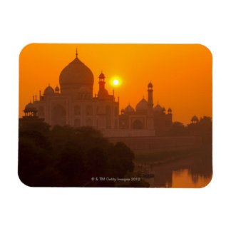 Sunset at Taj Mahal Magnet