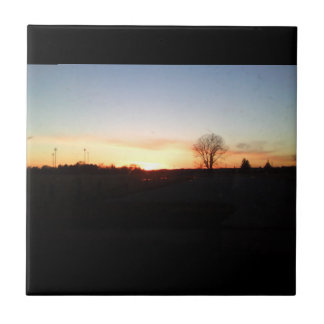 sunset at the ball park tile