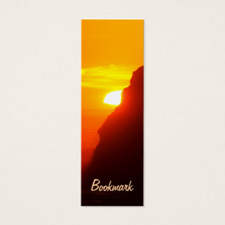 Sunset at the beach bookmark mini business card