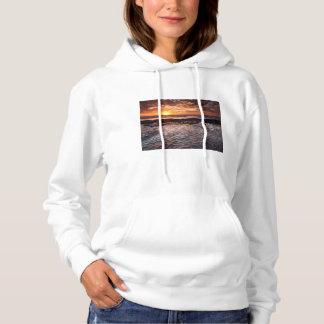 Sunset at the beach, California Hoodie