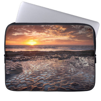 Sunset at the beach, California Laptop Sleeve