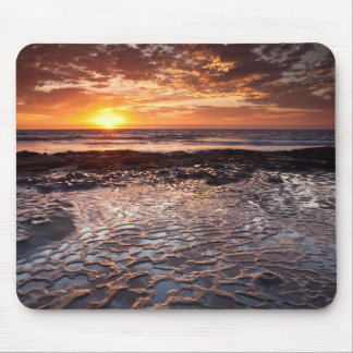 Sunset at the beach, California Mouse Pad