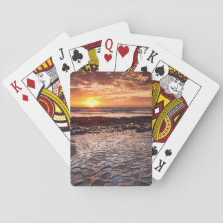 Sunset at the beach, California Poker Deck