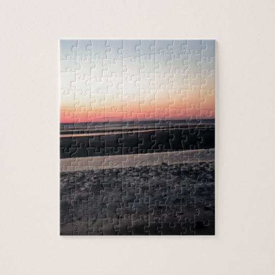 Sunset at the Beach in New Jersey Jigsaw Puzzle
