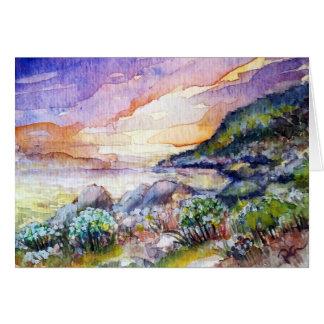 Sunset at the Beach notecard