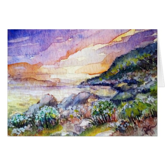 Sunset at the Beach notecard