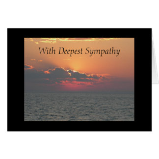 Sunset at the Beach With Deepest Sympathy Card