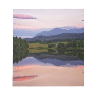 Sunset at the Caledonian Canal near Fort William Notepad