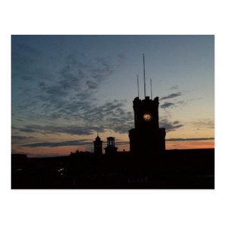Sunset at The Clocktower Postcard