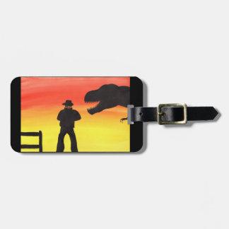 Sunset At The Dinosaur Ranch Bag Tag
