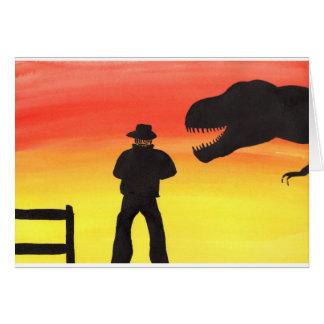 Sunset At The Dinosaur Ranch Card