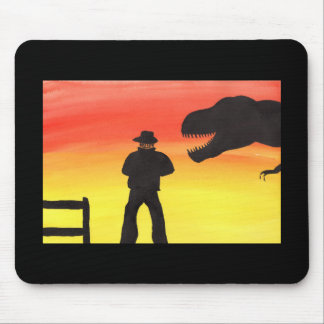 Sunset At The Dinosaur Ranch Mouse Pad