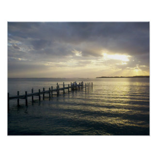 Sunset at the Dock in Southern Maryland poster
