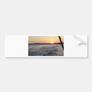 sunset at the lake bumper sticker