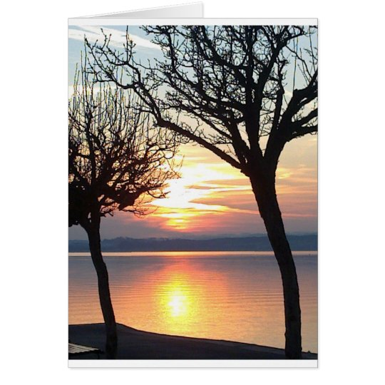 Sunset at the lake card