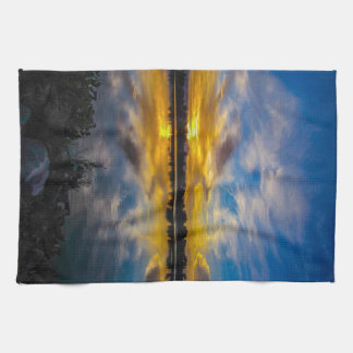 Sunset At The Lake Kitchen Towel