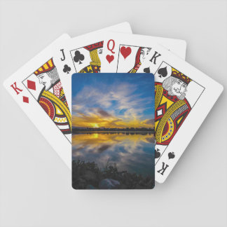 Sunset At The Lake Playing Cards