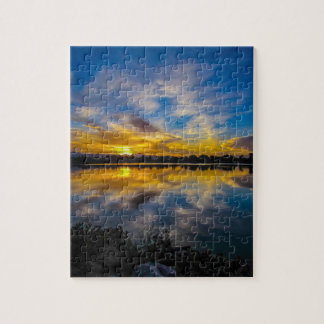 Sunset At The Lake Puzzle