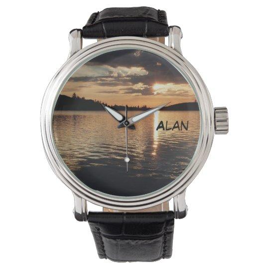 Sunset at the Lake Wrist Watch