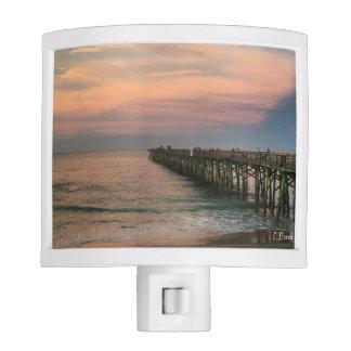 Sunset at the Ocean Pier Nite Lights