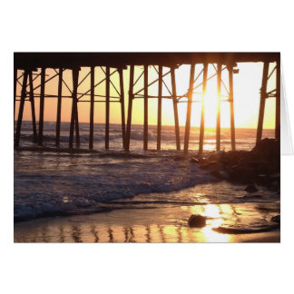 Sunset at the pier card