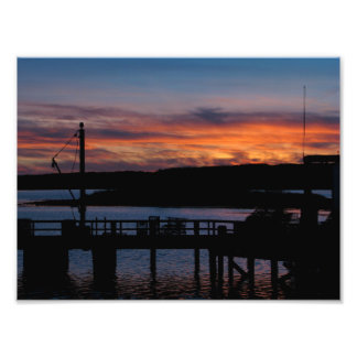 Sunset at the Pier Photo Print