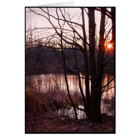 Sunset at the Pond Card