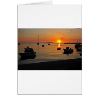 Sunset at the port of Novalja n iKroatien Card