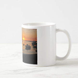 Sunset at the port of Novalja n iKroatien Coffee Mug
