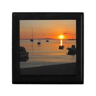Sunset at the port of Novalja n iKroatien Gift Box