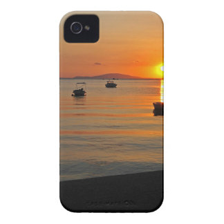 Sunset at the port of Novalja n iKroatien iPhone 4 Cover