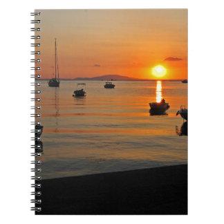 Sunset at the port of Novalja n iKroatien Notebooks