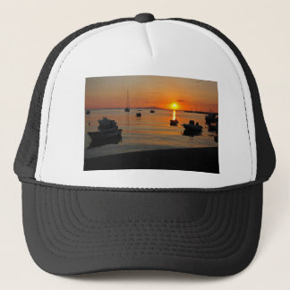 Sunset at the port of Novalja n iKroatien Trucker Hat