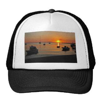 Sunset at the port of Novalja n iKroatien Trucker Hat