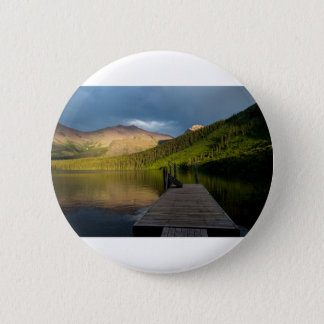 Sunset at Two Medicine Lake 2 Inch Round Button