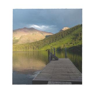 Sunset at Two Medicine Lake Notepad