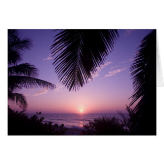 Sunset at West End, Cayman Brac, Cayman Islands, Card