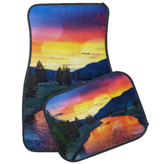 Sunset at Yellowstone Car Mat