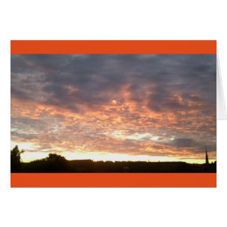 Sunset August 2016 Greeting Card