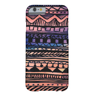 Sunset Aztec Pattern Barely There iPhone 6 Case