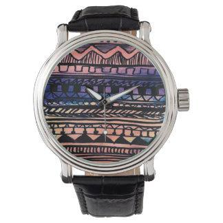 Sunset Aztec Pattern Wrist Watch
