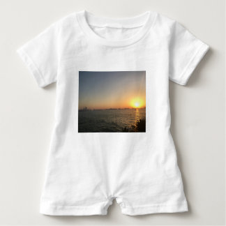 sunset baby romper