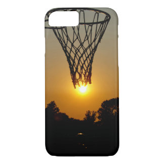sunset basketball with hoop and net Case-Mate iPhone case