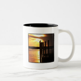 Sunset Bay Crane Two-Tone Coffee Mug