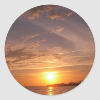 Sunset Bay VI Providenciales Turks and Caicos Classic Round Sticker