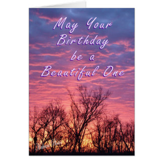 Sunset Bday Greeting Card